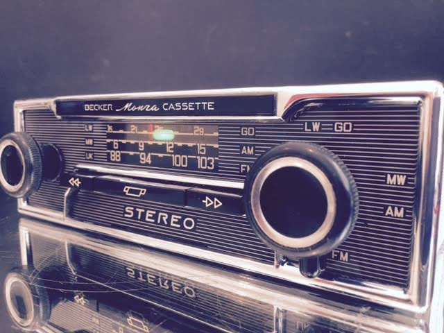 Becker Monza Stereo Vintage Pinstripe Classic Car Stereo Radio